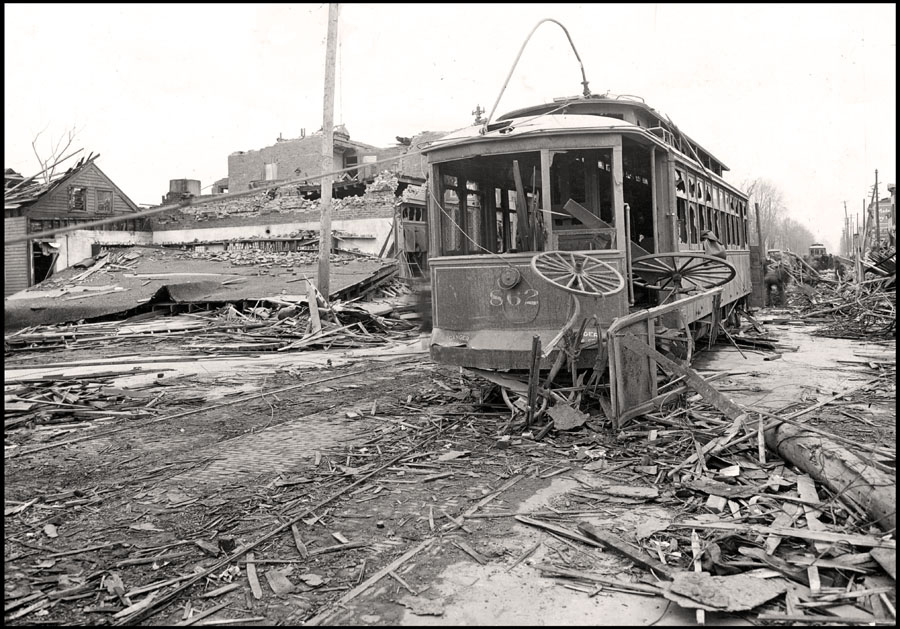 Wrecked Streetcar
