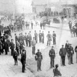 Militia formed in the streets at 1 pm