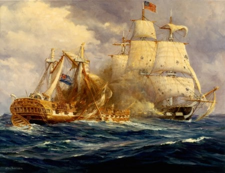 USS Constitution destroys the HMS Guerriere