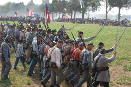 A Reenactment of the First Battle of Bull Run