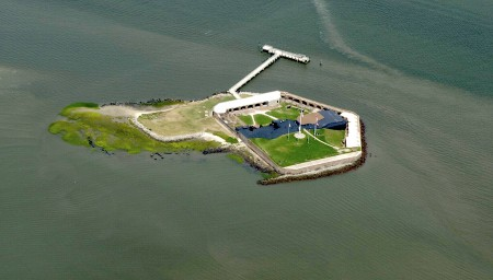 Fort Sumter from the air