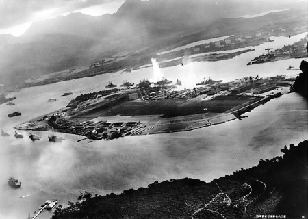 An Aerial View of the Pearl Harbor Attack