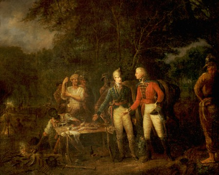 Marion Shares a Meal with a British Officer
