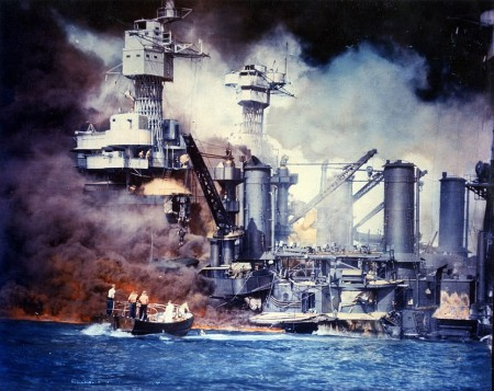 The USS West Virginia Under Attack at Pearl Harbor