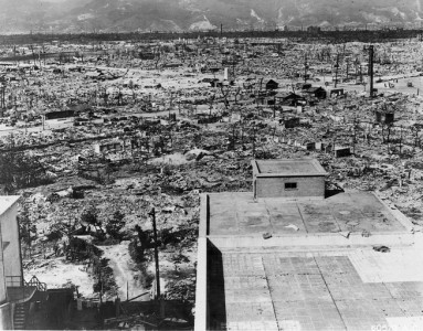 Hiroshima Turned into a Wasteland by the Bomb