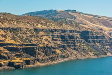 Cliffs Along Oregon's Columbia River