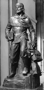 The Statue of Whitman in the Capital