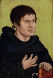 Martin Luther as an Augustinian Monk, by workshop of Lucas Cranach the Elder