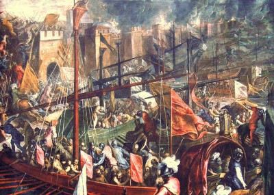The Crusaders Besieging Constantinople