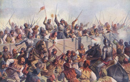 Hussites Fighting at the Battle of Lipan