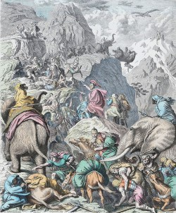 Hannibal's Army Crossing the Alps