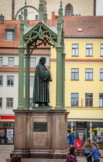 A Statue of Martin Luther in the Sqre