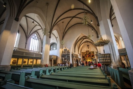 Inside St. Mary's in Wittenberg, where Luther Preached