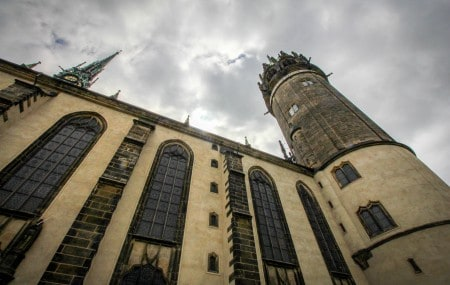 The Castle Church in Wittenberg, where Luther posted the 95 Theses