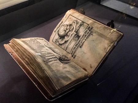 A book on display in Luther's House in Wittenberg